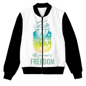 All You Need Is Freedom Men's Zip Up Jacket