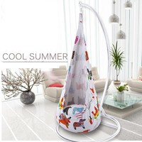 Colorful Printed Cartoon Children Hanging Swing Chair