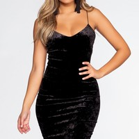 Soft Touch Midi Dress - Black