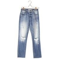 Tracey High Rise Straight Crop Jean