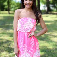 Party Hopper Dress - Neon Pink