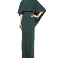 Sydney Column Gown with Cape
