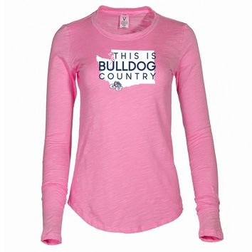 NCAA Gonzaga University Bulldogs Women's Long Sleeve Slub Tee Shirt