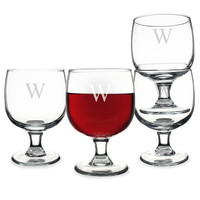 Personalized Stackable Low Stem Wine Glasses (Set of 4)