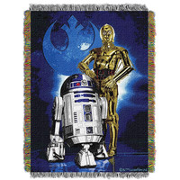 Star Wars Driod Blues  Woven Tapestry Throw (48inx60in)