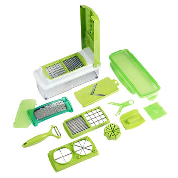 Evelots 12 Piece Multi Chopper Vegetable Cutting Dicing Slicing Kitchen Gadget