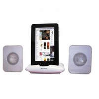 Portable Speaker for iphone, ipad, iPod, Tablets, & Any More - Music Player (White) Loudspeaker