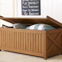 Hampstead Teak Storage Trunk - Honey