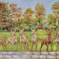 Custom large realistic LANDSCAPE, DOG PORTRAIT from photos, Made to order, Oil painting, Pet portrait on request, Dog memorial, Animal Art