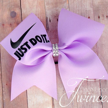 Nike Cheer Bow,  Light Purple cheer bow, cheer bows, gifts for cheerleaders, valentines day gift for cheerleader, team cheer bows