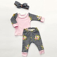 Baby Girls Clothing Sets born Baby Clothes Baby Girl Clothes Infant Kids Clothes