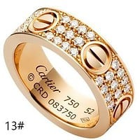 """""""Carti"""" Unisex More Rows Of Drill Diamond Ring Stars Couple Ring Accessories More Style More Diamond"""