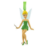 disney parks christmas tinker bell with wand glitter ornament new with tag