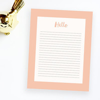 "INSTANT DOWNLOAD -  Coral printable letterhead 8.5x11"" / print from home letterhead / writing / letterhead design / stationery / corals"