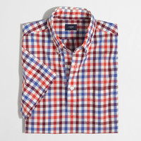 Factory short-sleeve washed popover
