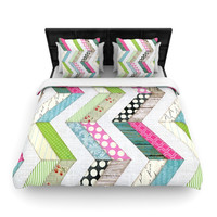 "Heidi Jennings ""Fabric Much?"" Colored Cloth Woven Duvet Cover"