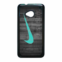 Nike Mint Just Do It Wooden HTC One M7 Case