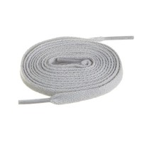 """BIRCH's Shoelaces in 27 Colors Flat 5/16"""" Shoe Laces in 4 Different Lengths (45.5"""" (115cm), Gray)"""