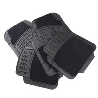 Furnistar 4-Piece Car Vehicle Universal Floor Mats  with All-Weather Rubber/Carpet