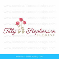 OOAK Premade Logo Design - Carnation Bouquet - Perfect for a floral artist or a wedding planner