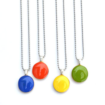 Eco friendly long spring necklace necklace eco friendly bold summer jewelry starlightwoods