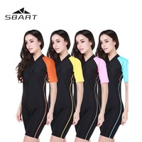 SBART 2018 Swimsuit Swimwear Surfing Women Quk-Dry One Pieces Diving Suit Kite   Swimming Rashguard Short Sleeve UPF50+ Wetsuit