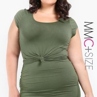 Knotted Crop Top Plus Size