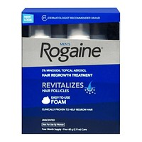 ROGAINE FOR MEN  MINOXIDIL FOAM 5% HAIR LOSS REGROWTH : 1 - 12 MONTH SUPPLY