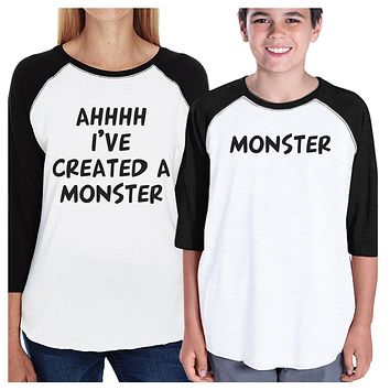 Created A Monster Matching Mom and Kid Baseball Jerseys For Wife