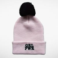 Girl Power Pom Pom Beanie