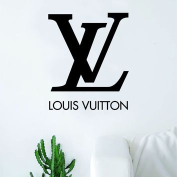 Louis Vuitton Logo Wall Decal Home Decor Bedroom Room Vinyl Sticker Art Quote Designer Brand Luxury Girls Cute Expensive LV