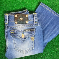 MISS ME ROSE GOLD SIMPLE POCKET BOOTCUT JEANS
