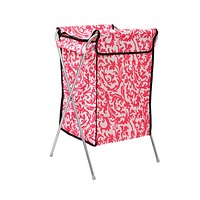 Supply 600D Oxford cloth covered laundry basket Laundry basket laundry basket Storage basket large foldable washable   pink