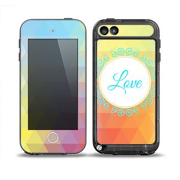 The HighLighted Colorful Triangular Love Skin for the iPod Touch 5th Generation frē LifeProof Case