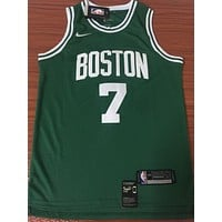 Boston Celtics 7 Jaylen Brown Green Swingman Jersey-1