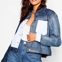 Contrast Denim Jacket | Boohoo