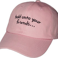 YCMI Womens Adjustable Funny Sayings Hold Onto Your Friends Baseball Cap Sun Hats
