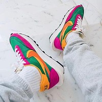 Nike LVD WAFFLE Fashionable Men Women Breathable Sport Running Shoes Snekers Rose&Green&Orange