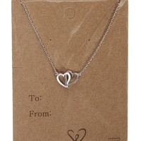 Promo-Silver Heart Charm Necklace