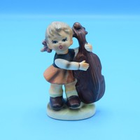 Napco Girl with Cello C-7654 Vintage Napco Figurine Made in Japan Collectible Figurine Girl playing Music Gift for Her Wedding Decor Gift
