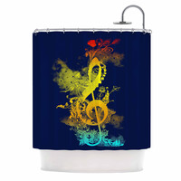 """Federic Levy-Hadida """"Sound of Nature"""" Rainbow Music Shower Curtain"""