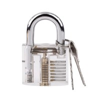 2017 Hot Sale 1Set Transparent Pick Cutaway Visable Inside View Padlock Lock For Locksmith Tools Practice Training Skill