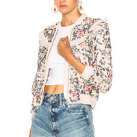 Needle & Thread Whisper Bomber in Petal Pink | FWRD
