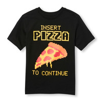 Boys Short Sleeve 'Insert Pizza To Continue' Graphic Tee | The Children's Place