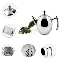 1000ML/1500ML Durable Teapot Coffee Tea Kettles Sliver Cold Water Pot Kettle With Strainer