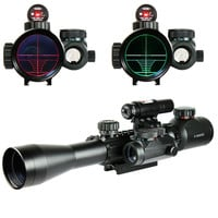 3-9X40 Illuminated Tactical Rifle Hunting Gun Optical Scope with Red Laser & Holographic Dot Sight