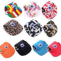 Tailup Pet Dog Hat Baseball Hat Summer Canvas Cap Only For Small Pet Dog Outdoor Accessories Outdoor Hiking Sports
