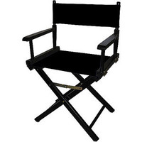"""Walmart: Director's Chair 18"""", Black Wood Base with Multiple Seat Color Choices"""