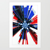 USA Tech Flag Art Print by Emiliano Morciano (Ateyo)