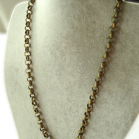 Men's Brass Chain Necklace Simple and Masculine.